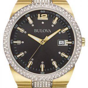 Brand New Bulova Men's Crystal Quartz Two Tone Watch 98B235