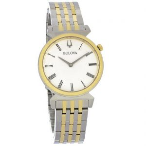 Bulova Regatta Ladies White Dial 2-Tone Stainless Steel Quartz Watch 98L264