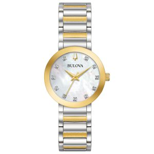 Bulova Futuro Women's Quartz Diamond Accent Two-Tone 30mm Watch 98P180