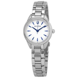 Bulova Sutton Quartz Silver Dial Ladies Watch 96L285