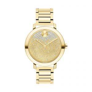 Movado Bold Evolution Gold-Tone Steel Bracelet Women's Watch 3600705