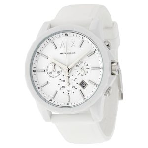 Armani Exchange Men's Active AX1325 White Silicone Japanese Quartz Sport Watch