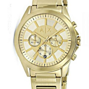 Armani Exchange Chronograph Gold Dial Men's Watch AX2602