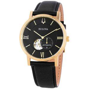 Bulova American Clipper Automatic Black Dial Men's Watch 97A154
