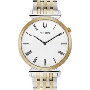 BULOVA Regatta Quartz White Dial Two-tone Men's Watch Item No. 98A233