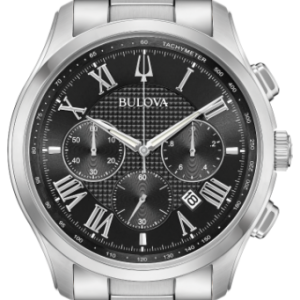 Bulova Wilton Men's Watch Silver 46.5mm Stainless Steel 96B288