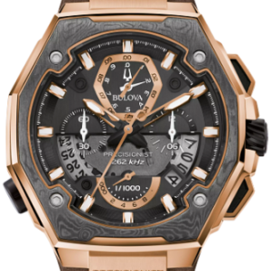 BRAND NEW Bulova Men's Precisionist X Special Edition Brown Leather Watch 98B356