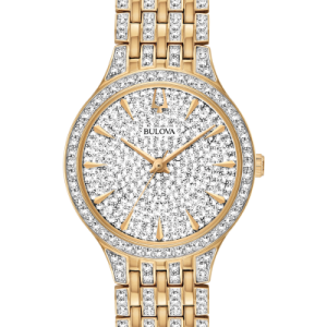Bulova Women's Phantom Swarovski Crystals Accent Gold Watch 98L263