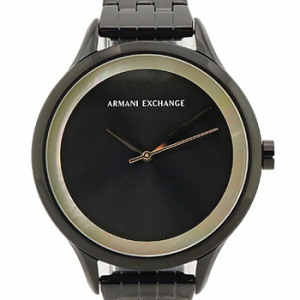 Armani Exchange Womens Three-Hand Black Stainless Steel Watch AX5610