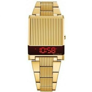 New Bulova Special Edition Archive Digital Computron Gold Men's Watch 97C110