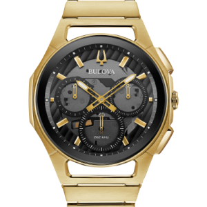 Bulova 97A144 Men's Chronograph CURV Stainless Steel Gold-Tone 44mm Watch