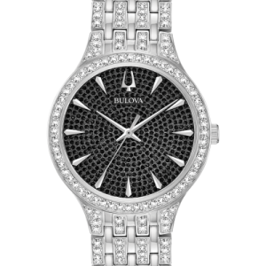 Bulova Phantom Black Pave Dial Stainless Steel Men's Watch 96A227