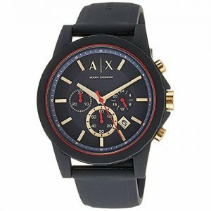 Armani Exchange Men's Black Silicone Quartz Sport Watch Ax1335