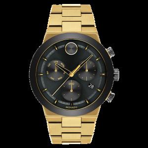 Brand New Movado Bold Fusion Gold Tone Watch 3600731
