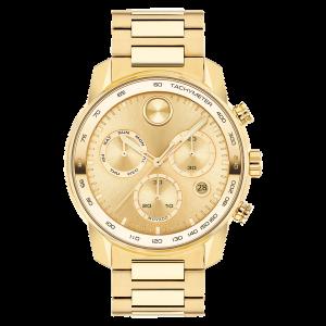 Brand New Movado Bold Verso 44mm Gold Tone Watch 3600741