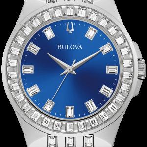 Brand New Bulova Crystal Phantom Blue Dial Men's Watch 96A254
