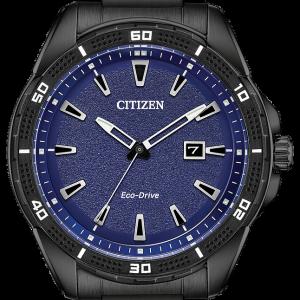 Brand New Citizen Eco Drive Blue Sport Black Steel Watch AW1585-55L