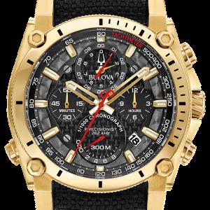 Brand New Bulova Precisionist Chronograph Black Dial Men's Watch 97B178